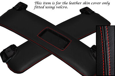 RED STITCHING FITS BMW Z4 E85 2X SUN VISORS LEATHER COVERS ONLY