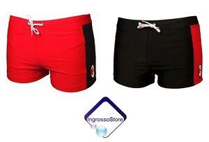 Pantaloncini Da Bagno Ragazzo : Costume boxer pantaloncino bimbo ragazzo milan prodotto ufficiale