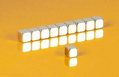 10 starke Neodym Magnete 10 x 10 x 10 mm Würfel N42 10x10x10mm