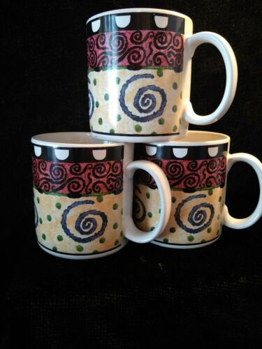 Details about  3  FURIO  CONFETTI  COFFEE MUGS  H107/42S