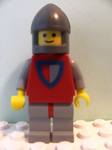 LEGO @@ Minifig cas075 @@ Classic Knight Shield Red//Gray 677 6077