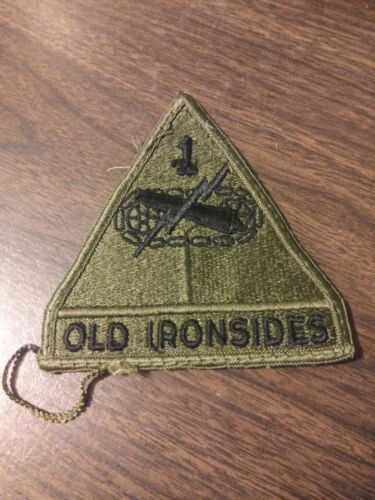 "US Army 1st Armored Division ""Old Ironsides"" w Tab SD Patch"