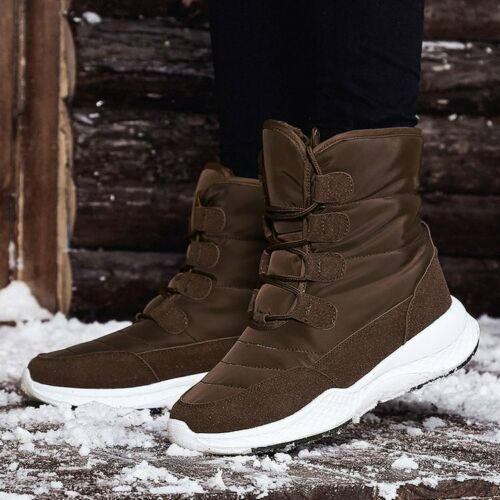 Womens Mid-Calf Boots Winter Fur Warm Shoes Outdoor Sneakers Pull On Fashion Hot