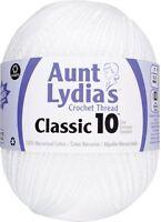 Aunt Lydia 153.0201 Jumbo Crochet Cotton, White , New, Free Shipping on sale