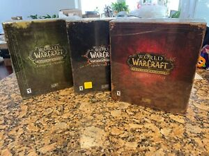 World of Warcraft Collector's Edition BC, Cataclysm and MoP Factory Sealed