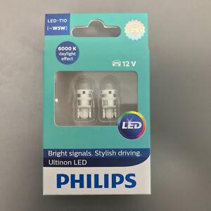 Philips-conduccion-con-estilo-fresco-LED-Blanco-6000K-360-T10-501-W5W-Bombillas-de-coche