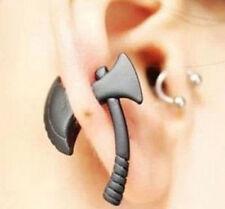1Pair punk gothic Women Men Black Ax/Hatchet Earrings Piercing Ear Stud Jewelry