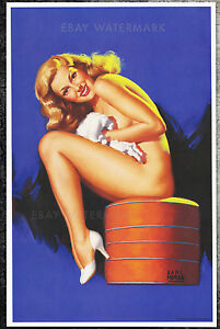 1950's Earl Moran Authentic Pin-Up Poster Art Print 11x17 Marilyn Monroe Norma