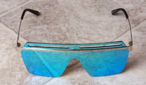 New Designer Sunglasses Laid On Visor Square Ladies Mens Womens Reflective Lot