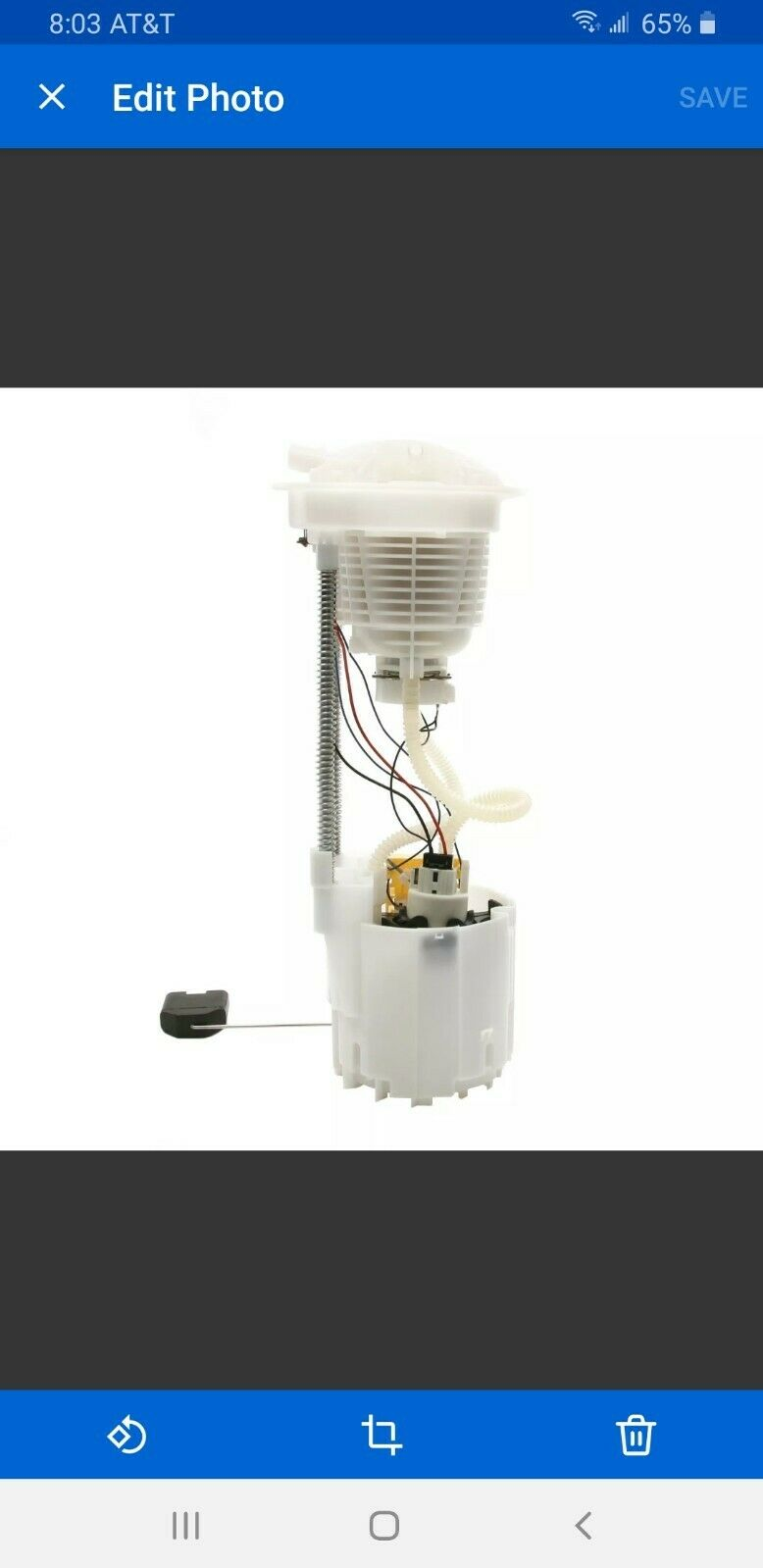 Fuel Pump Module Assembly-Crew Cab Pickup Airtex E7165M