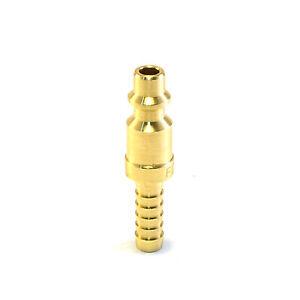 """1/4"""" Brass Hose Barb Plug Stem Air Hose Fittings Compressor Quick Connect"""