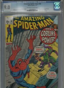 Amazing-Spider-Man-98-CGC-VF-NM-9-0-OW-W-1971-GREEN-GOBLIN-DRUG-ISSUE-No-CCA