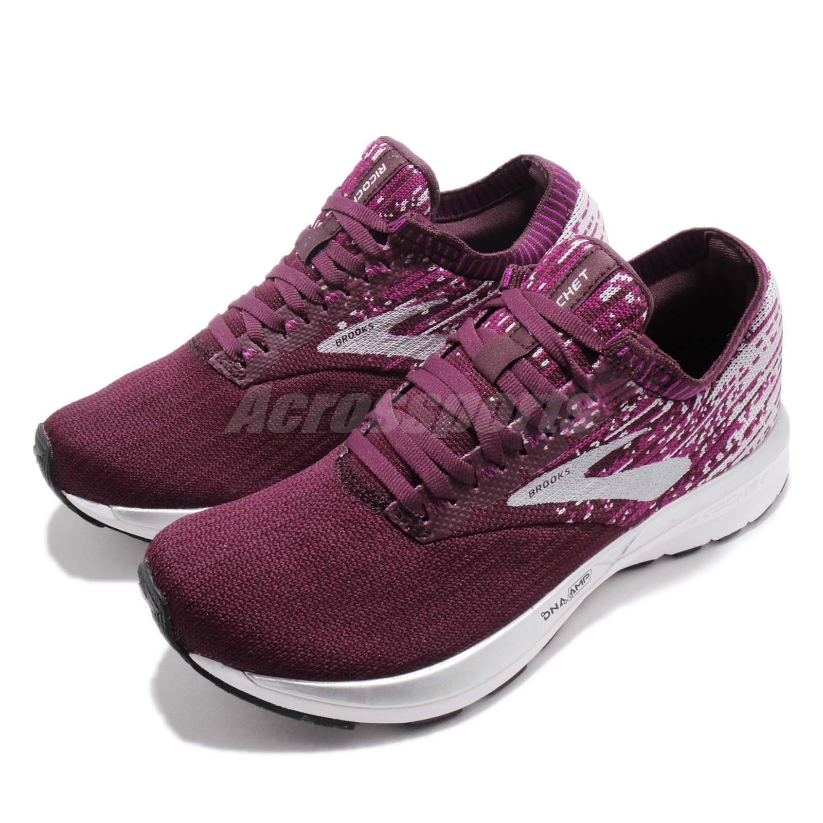 Brooks Ricochet higo salvaje Aster Mujer Running Zapatos Tenis gris 120282 1B