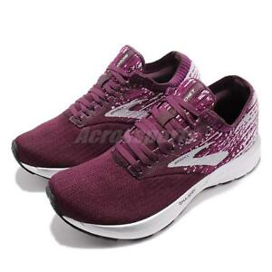 b4ee77163ed Brooks Ricochet Fig Wild Aster Grey Women Running Shoes Sneakers ...