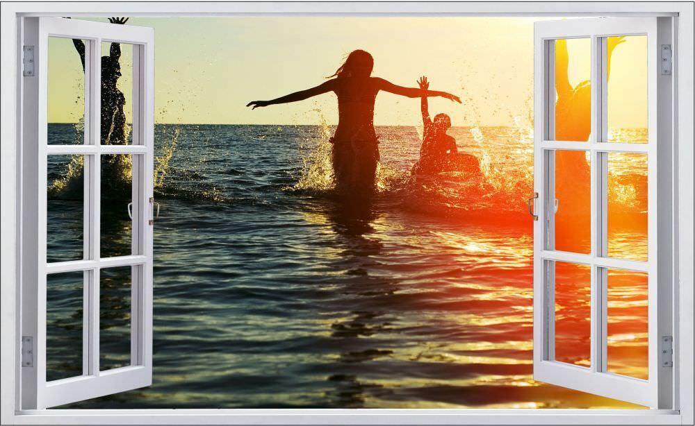Vacanza feeling Mare Spiaggia Muro Tatuaggio Parete Adesivo Parete Adesivo f0748