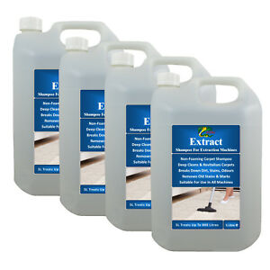 Details About Carpet Shampoo Upholstery Cleaning Solution Removes Pet Odour Hydra Extract 4x5l