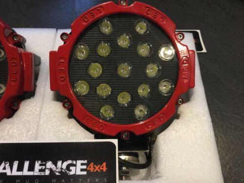 Pair Red LED spot lights 102 Watt Mega Bright Lights