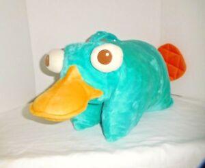 RARE Disney Phineas & Ferb PERRY the Platypus Pillow Pal Plush Pet