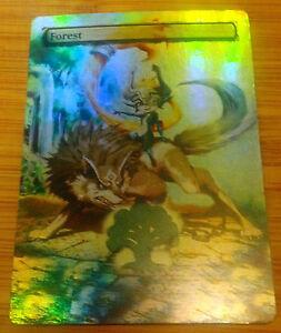 Detalles acerca de Foil MTG bosque Alt Arte Legend of Zelda Link Midna Cubo  Edh Comandante Lobo- mostrar título original