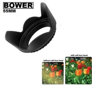 Bower-55mm-Tulip-Flower-Lens-Hood-for-Photo-Camera-Lens-Black