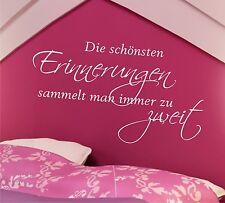Wandtattoo Sprüche Die schönsten Erinnerungen... 60cm Schlafzimmer Text Zitat 2r