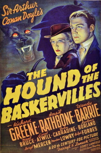 Home Graphic Design. Movie Art Decor POSTER 2309 The Hound of the Baskervilles