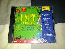 I Spy: School Days -- Brain-Building Games for Kids (PC, 1995) BRAND NEW SEALED!