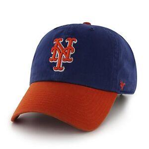 3831219f8b2 New York Mets 47 Brand Clean Up Adjustable Hat Baseball Cap 2 Tone ...