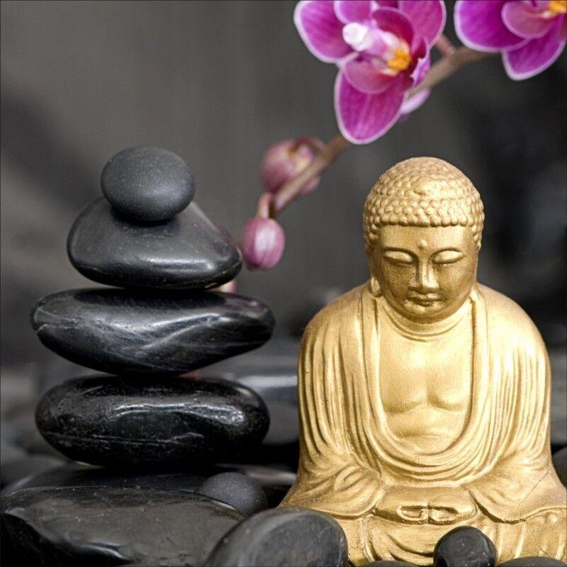 Wandaufkleber Deko  Kiesel Buddha 1244