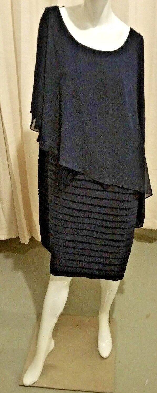 Scarlett Sleeveless Cape Sheath Dress Größe 18w Farbe Navy