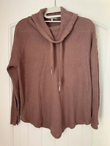 Charlotte-Russe-Cowl-Neck-Waffle-Knit-Sweater