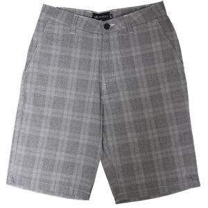 O-039-neill-Men-039-s-Gray-Plaid-Walking-Short-Retail-45-00