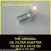 1/2-28 To 3/4-16 Threaded Adapter Original Automotive Oil Filter Adapter For 556