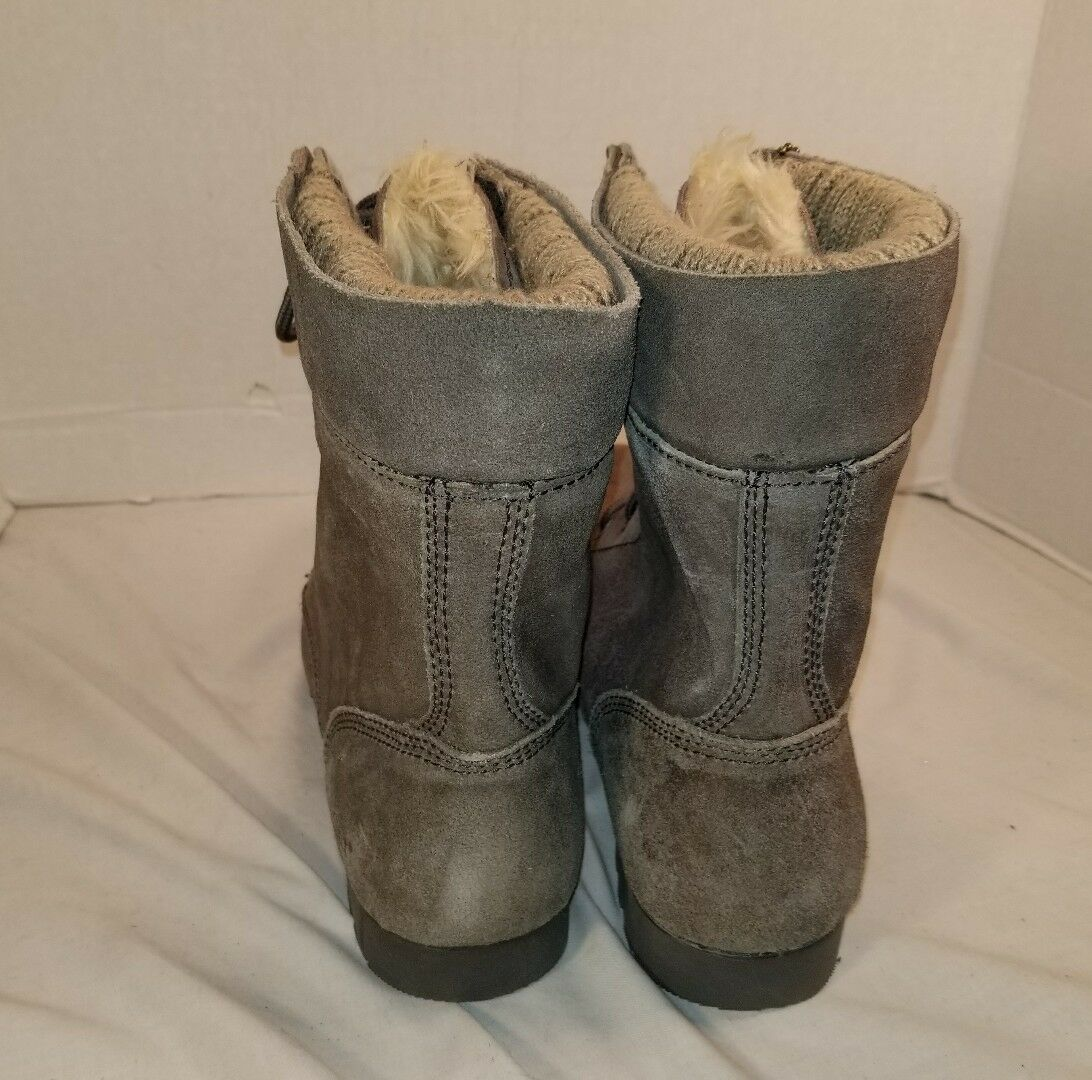 NEW CAT WOMEN'S WOMEN'S WOMEN'S ALEXI ELEPHANT GREY SUEDE CASUAL Stiefel US 11 0389bf