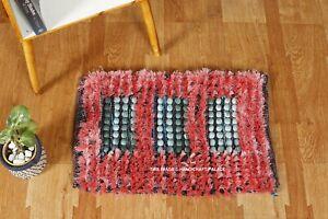 Acrylic-Door-Mat-Decorative-Boho-Red-Hand-Woven-Floor-Carpet-Bedroom-Indoor-Mats