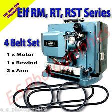 ELF RST serie 16mm CINE PROIETTORE 4 Set Cinghia di trasmissione (motore, riavvolgi & entrambe le braccia)
