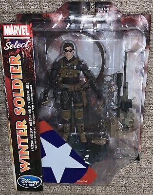 "Disney Store Winter Soldier 7/"" Marvel Diamond Select Bucky Barnes NEW Limited"