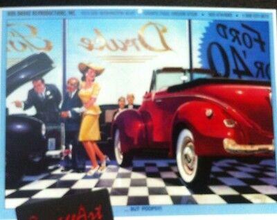 "1940 Ford Fordor /""Yes M/'am/"" Illustration 8x10 Reprint Garage Decor"