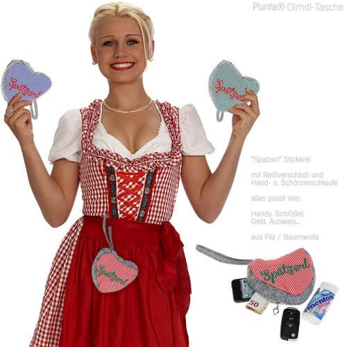 Dirndl Tasche PUNTA HERZL Trachtentasche Wiesen Volksfest Trachten Oktoberfest