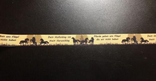 Webband Borte 1052 Pferde 22mm Breite Eigenproduktion Ripsband