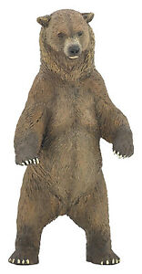 Standing-GRIZZLY-BEAR-Replica-50153-FREE-SHIP-USA-w-25-Papo-Products