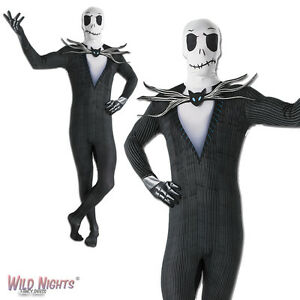 image is loading fancy dress costume adult disney halloween jack skellington - Halloween Jack Costume