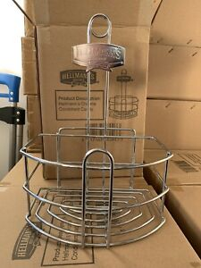 Hellmann-039-s-Chrome-Condiment-Table-Caddy-for-Mayonnaise-Ketchup-Caddie-Holder