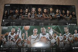 Details About 2014 15 Michigan State Spartans Mens Womens Basketball Schedule Posters Msu