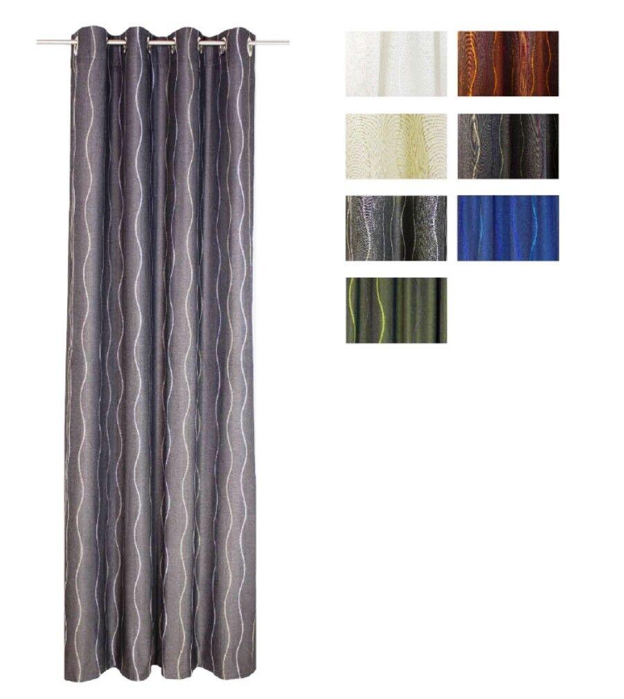 Jacquard Ösenschal   Fertiggardine Sepino Farbe braun     5 Größen | Hohe Qualität  5d0524