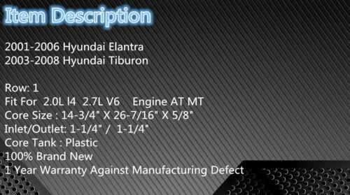 2387 Radiator Fit For 2001-2006 Hyundai Elantra 2.0L 2.7L 2002 2003 2004 2005