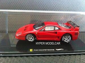 HOT-WHEELS-ELITE-1-43-Ferrari-F40-Le-Mans-Competizione-Test-Car-Red-Art-X5507