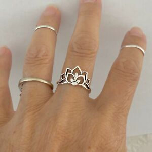 Lotus Designer Ring 925 Sterling Silver Ring Handmade Silver Ring Fine Silver Ring Gift For Her Silver Lotus Ring Designer Ring