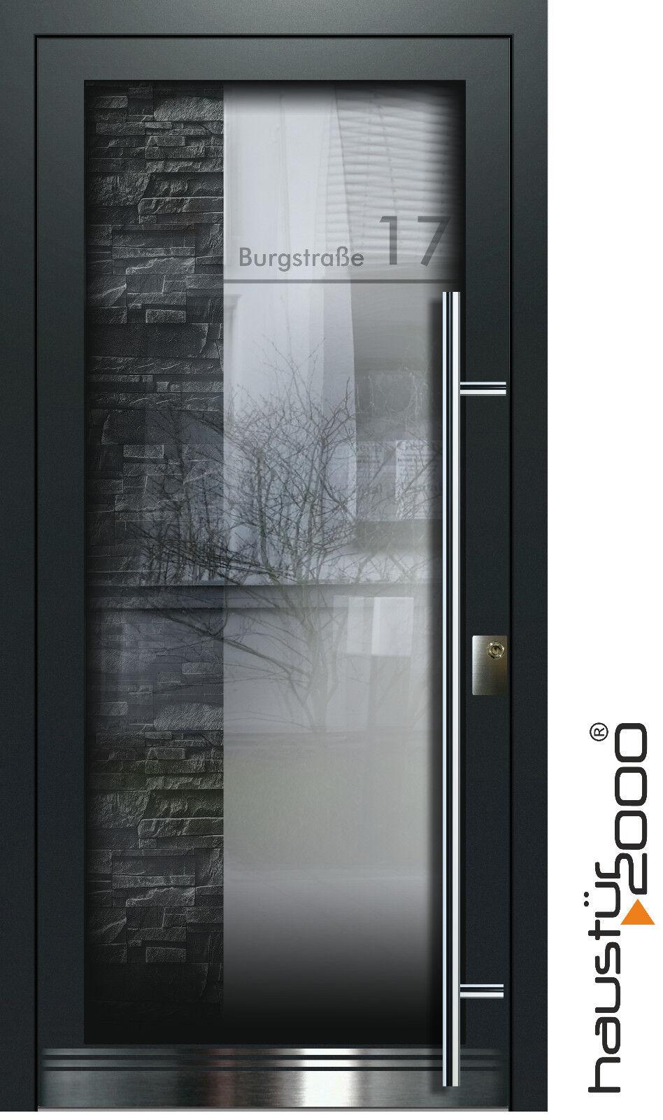Aluminium Haustür Glas Tür Alu Haustüren nach Maß Mod. HT 5461 GLA nach Maß