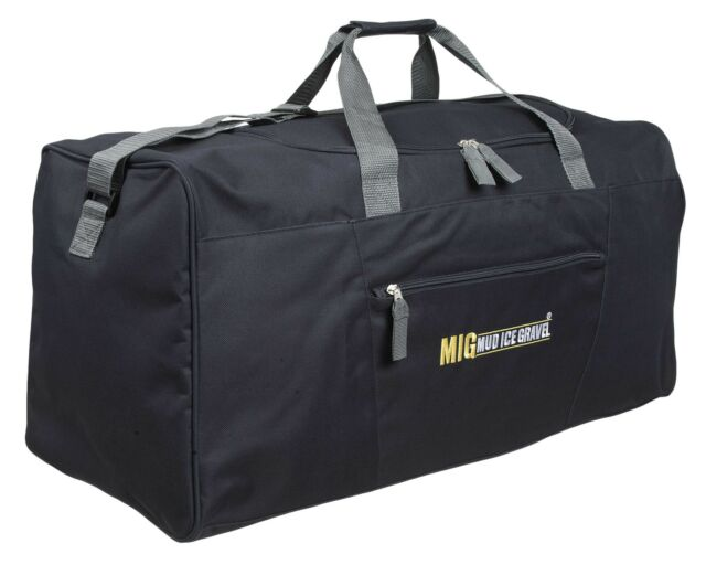 Mens EXTRA LARGE BIG Sports   Gym Duffle Holdall Bag TRAVEL WORK MIG BLACK  2016 3afc5979e33ab